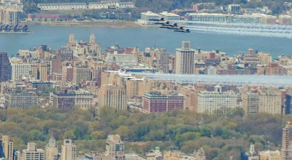 The Thunderbirds and Blue Angels over Central Park