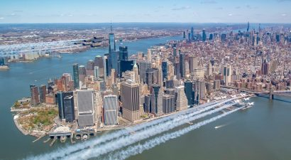 The Thunderbirds and Blue Angels over Lower Manhattan